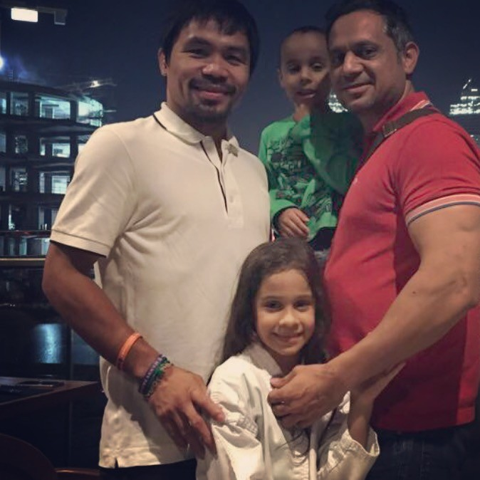 Arif Mirza with Manny Pacquiao